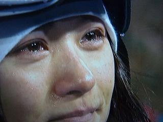 上村愛子 美しい涙 バンクーバー五輪