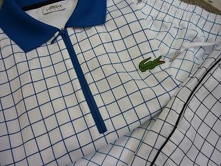 2010 ラコステ 格子柄ゲームシャツ DH0625 &パンツ