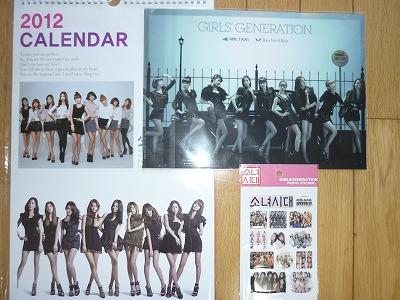 少女時代2012カレンダー、MR.TAXIクリアファイル、ステッカー