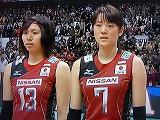 バレーボールWC 2011 新鍋理沙・山口舞