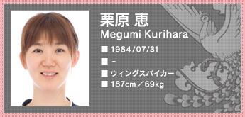 栗原恵 全日本バレーボール協会ホームページ画像